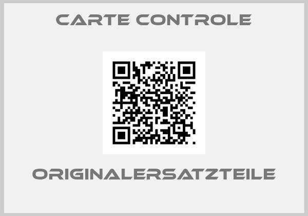 CARTE CONTROLE